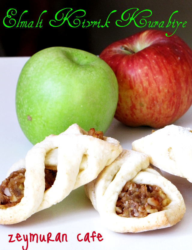 elmalı kıvrık kurabiye