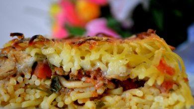 firinda-tavuklu-spagetti-makarna