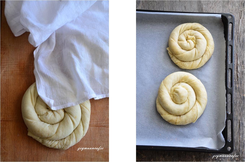tahinli çörek yapılış aşamaları