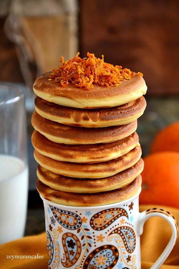 portakallı pankek tarifi ve yapımı