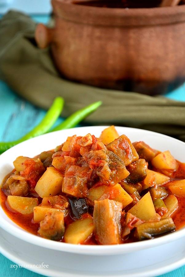 patatesli patlıcan yemeği tarifi