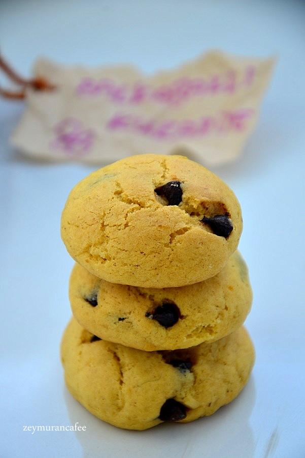 bal kabaklı damla çikolatalı kurabiye