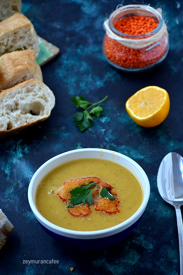 süzme mercimek çorbası tarifi