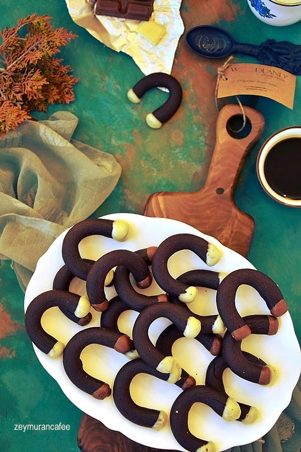 kahveli ay kurabiye tarifi