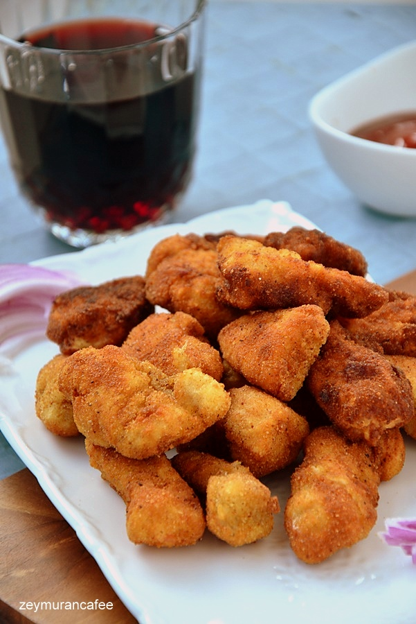 ev yapımı tavuk nugget nasıl yapılır