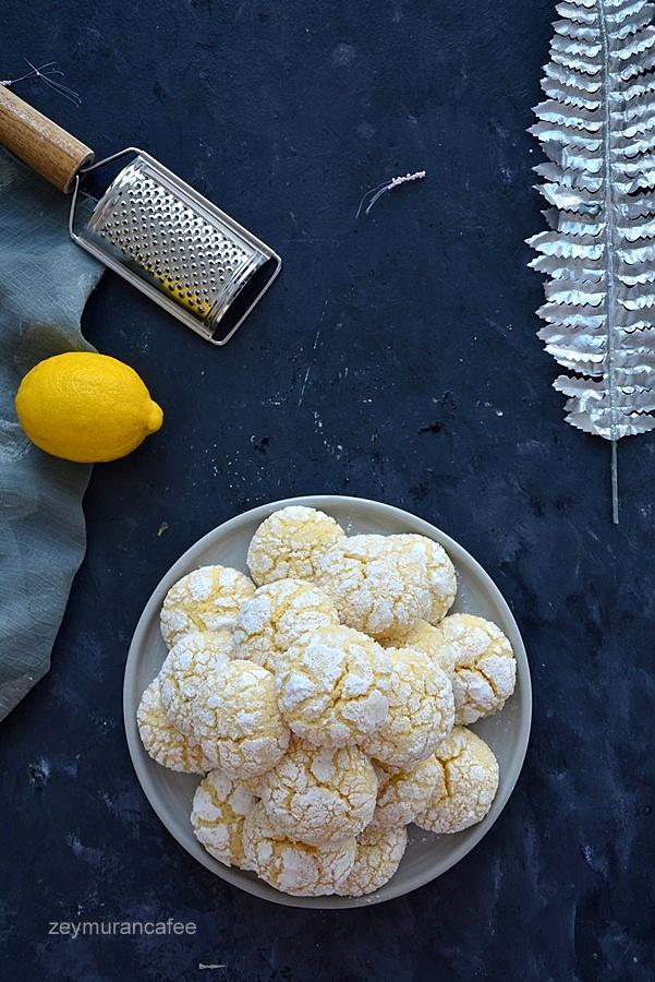 sihirli limonlu çatlak kurabiye