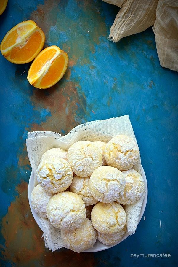portakallı çatlak kurabiye tarifi