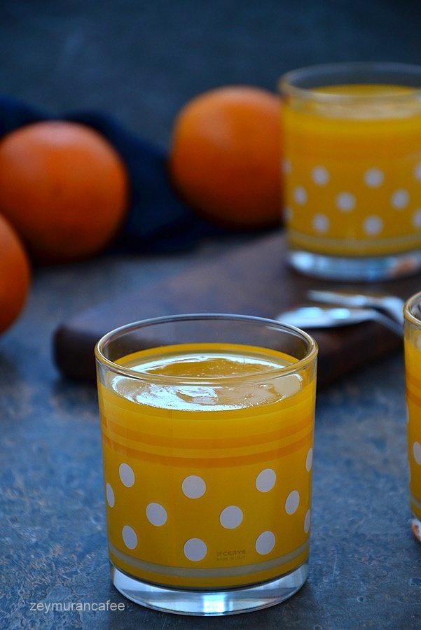 portakal soslu muhallebi tarifi